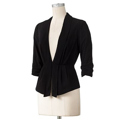 ELLE Solid Pleated Jacket