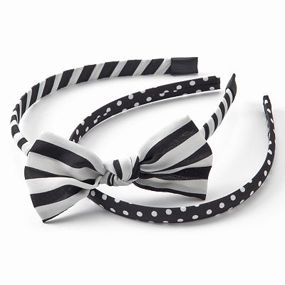 Candie's 2-pc. Striped and Polka-Dot Headband Set