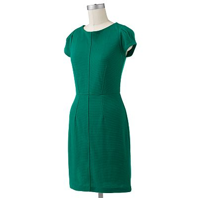ELLE Textured Sheath Dress