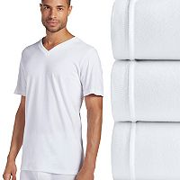 Men's Jockey 3 pkClassic StayDry V-Neck Tees