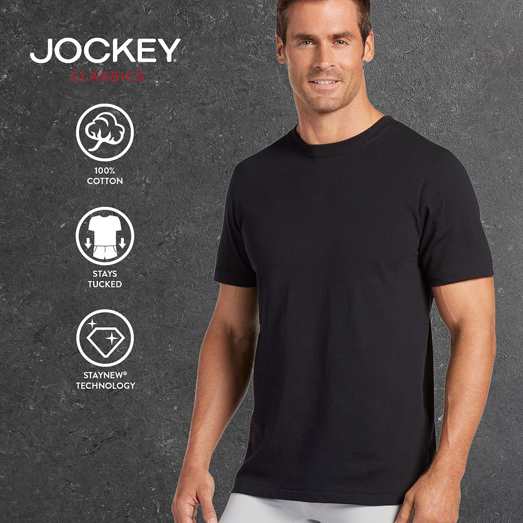 Big & Tall Jockey 2-pk. Classic StayDry Crewneck Tees