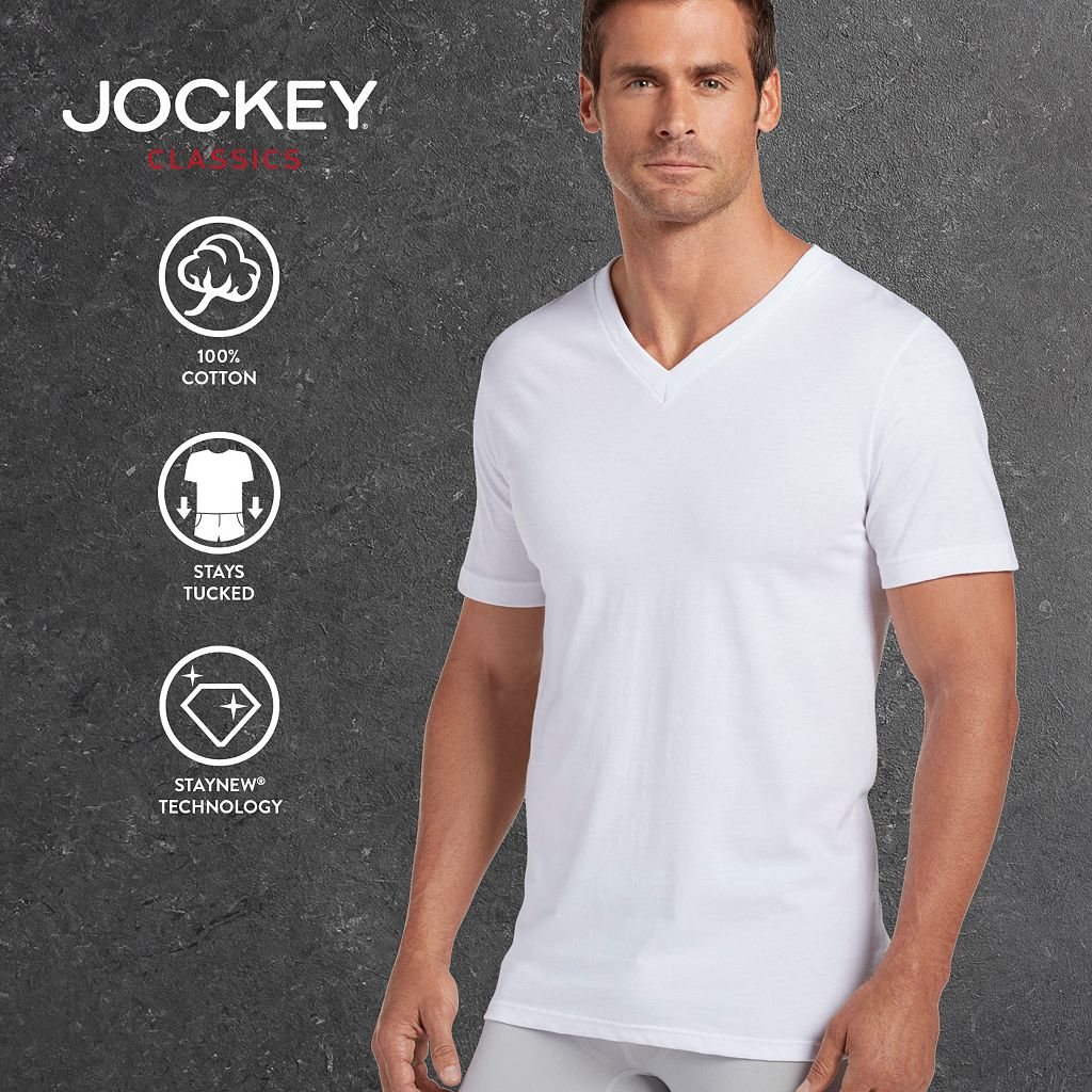 Big & Tall Jockey 2-pk. Classic StayDry V-Neck Tees