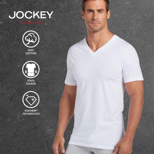 Big & Tall Jockey 2-pk. Classic StayDry V-Neck Tees
