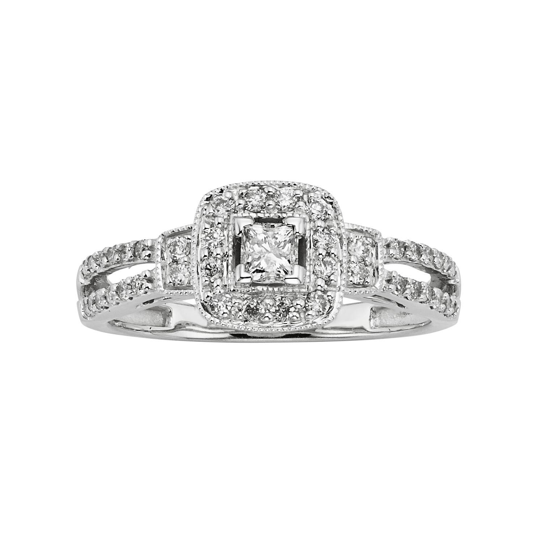 10k Gold Wedding Rings 64 Popular Princess Cut IGL Certified