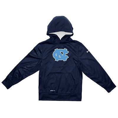 Nike North Carolina Tar Heels Therma-FIT Hoodie - Boys 4-7