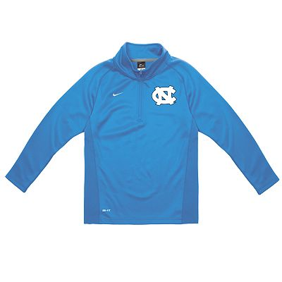 Nike North Carolina Tar Heels Dri-FIT Performance 1/4-Zip Shirt - Boys 4-7