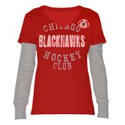Chicago Blackhawks Run and Shoot Mock-Layer Tee