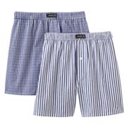 Jockey 2-pk. Checked and Striped Full-Cut Boxers