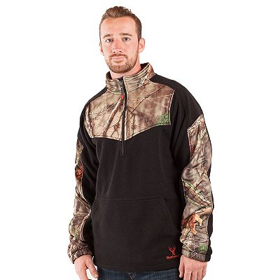 Huntworth 1/4-Zip Camouflage Fleece Pullover - Men