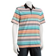 Chaps Golf Masters Multi-Striped Performance Polo