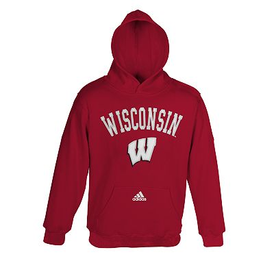 adidas Wisconsin Badgers Fleece Hoodie - Boys 4-7