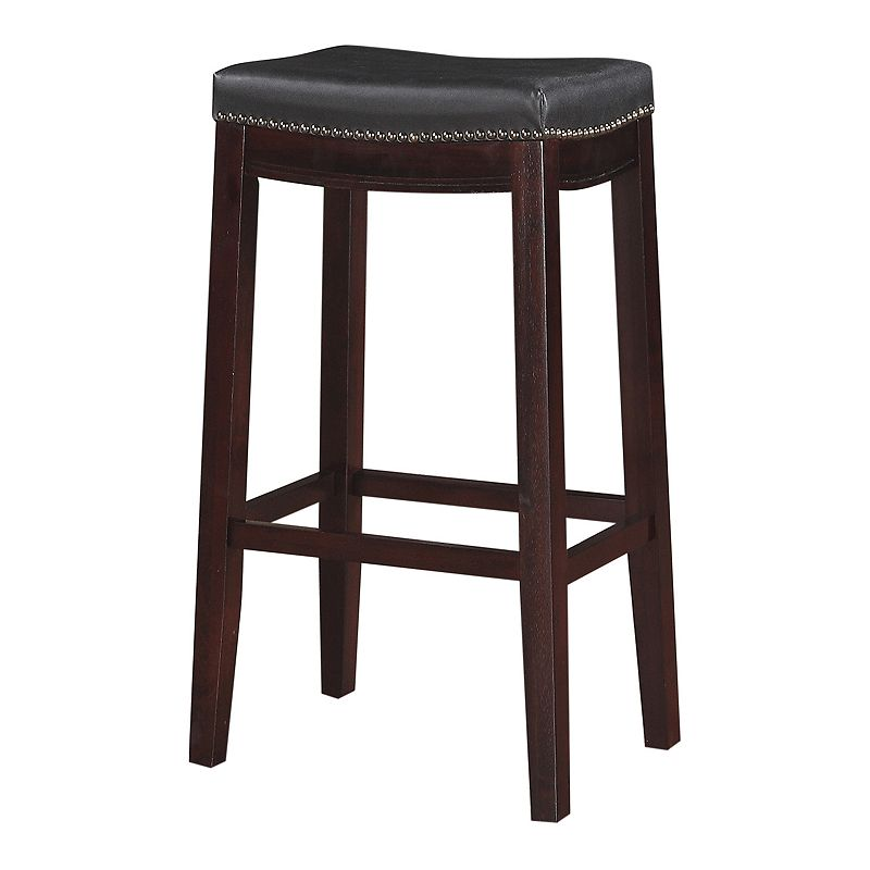 Magnificent Upc 753793912684 Linon Allure Bar Stool Black Gmtry Best Dining Table And Chair Ideas Images Gmtryco