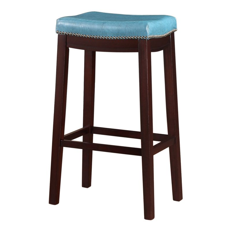Linon Allure Bar Stool Polyurethane Backless Stool Kohl S