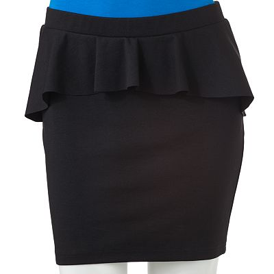 Candie's Peplum Body Con Skirt - Juniors