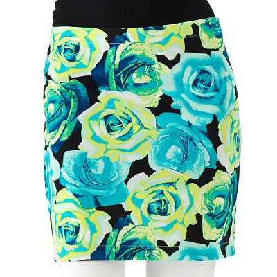 Candie's Floral Skirt - Juniors