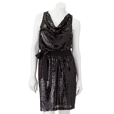 Apt. 9 Sequin Drapeneck Dress