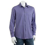 Apt. 9 Checked Poplin Casual Button-Down Shirt