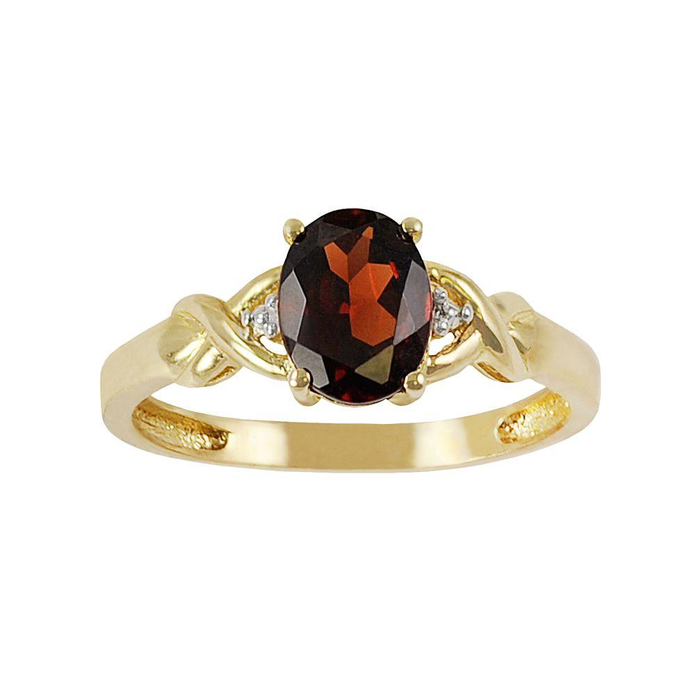 10k Gold Garnet Ring