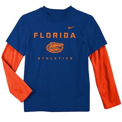 Nike Florida Gators Mock-Layer Dri-FIT Tee - Boys 4-7