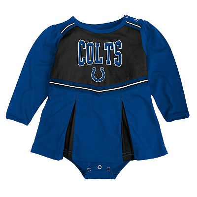 Indianapolis Colts Cheerleader Creeper Dress - Baby