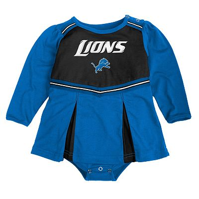 Detroit Lions Cheerleader Creeper Dress - Baby