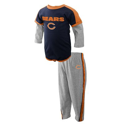 Chicago Bears Mock-Layer Creeper and Pants Set - Newborn