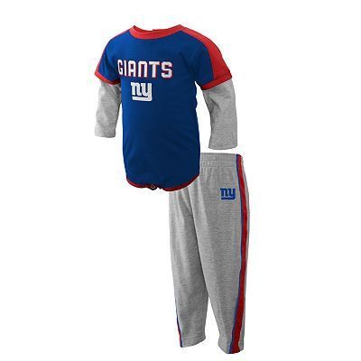 New York Giants Mock-Layer Creeper and Pants Set - Newborn