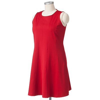 Apt. 9 Solid Gored Dress - Women's Plus