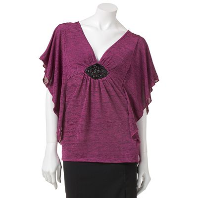 HeartSoul Butterfly Medallion Top - Juniors