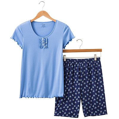 Chaps American Summer Ruffle Pajama Set - Women's Plus