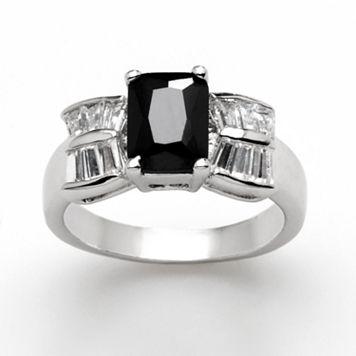 Silver ToneCubic Zirconia Ring