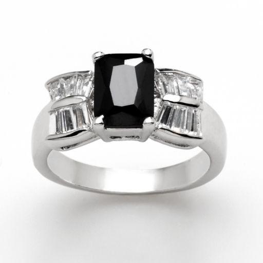 Silver Tone Cubic Zirconia Ring