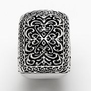 Silver Tone Filigree Ring