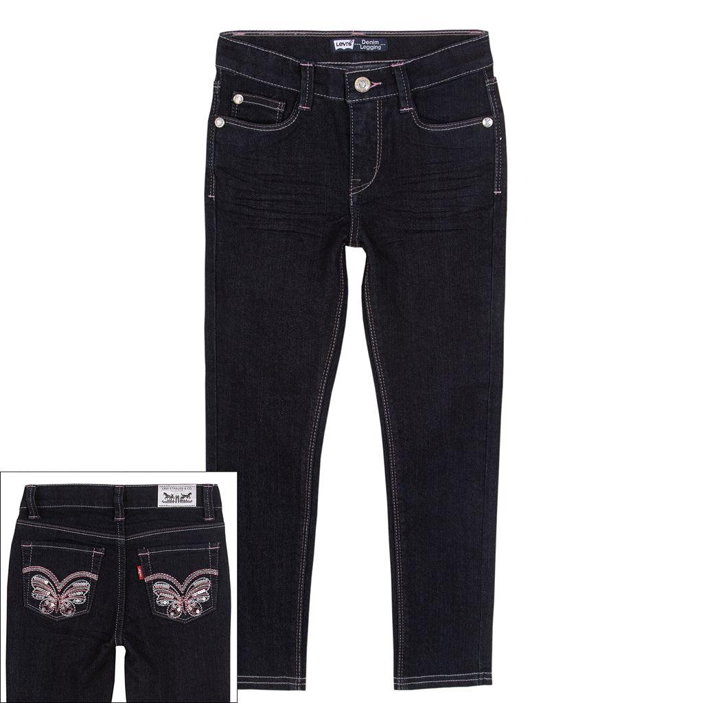 Girls 4-6x Levi's Butterfly Denim Leggings