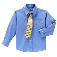 Chaps Woven Shirt & Tie Set - Boys 4-7