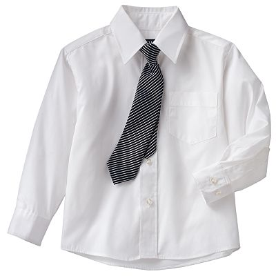 Chaps Woven Shirt and Tie Set - Boys 4-7