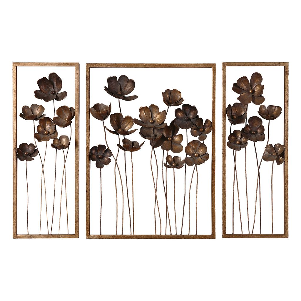 3-pc. Metal Tulips Wall Decor Set