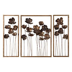 Uttermost 3-pc. Metal Tulips Wall Decor Set