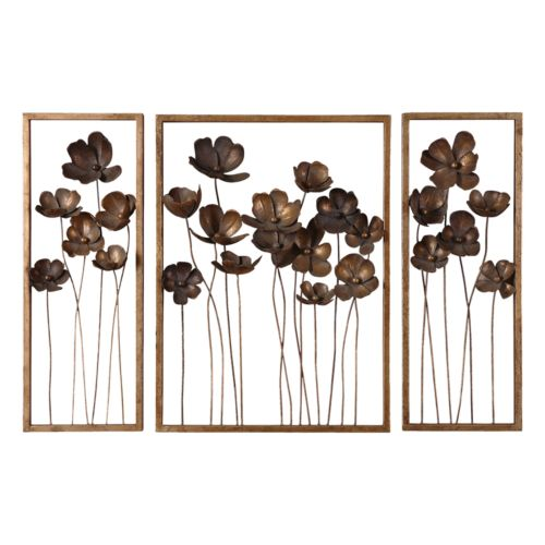 3-pc. Metal Tulips Wall Decor Set