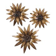 Uttermost 3-pc. Golden Gazanias Wall Decor Set