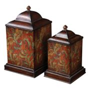 Uttermost 2-pc. Floral Canister Set