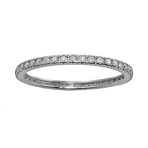 10k White Gold 1/3-ct. T.W. Diamond Eternity Wedding Ring