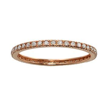 10k Rose Gold 1/3-ct. T.W. Diamond Eternity Wedding Ring