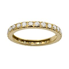 14k Gold 1-ct. T.W. Diamond Eternity Wedding Ring