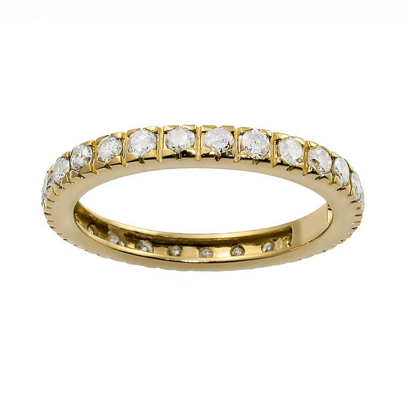 14k Gold 1-ct. T.W. Diamond Eternity Wedding Ring, Women's, Size: 6, White