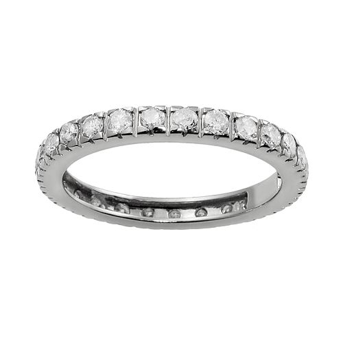 14k White Gold 1-ct. T.W. Diamond Eternity Wedding Ring