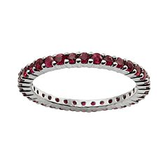 10k White Gold Ruby Eternity Wedding Ring