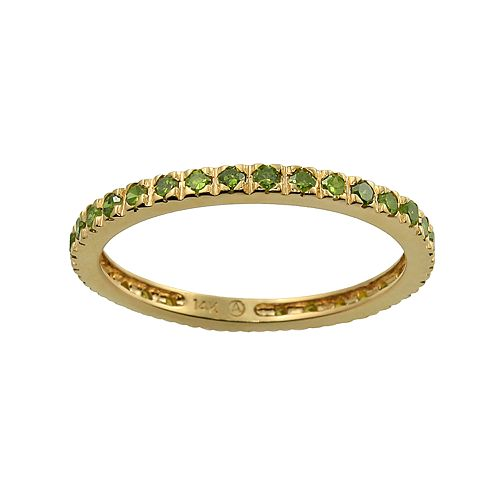 10k Gold 1/2-ct. T.W. Green Diamond Eternity Wedding Ring