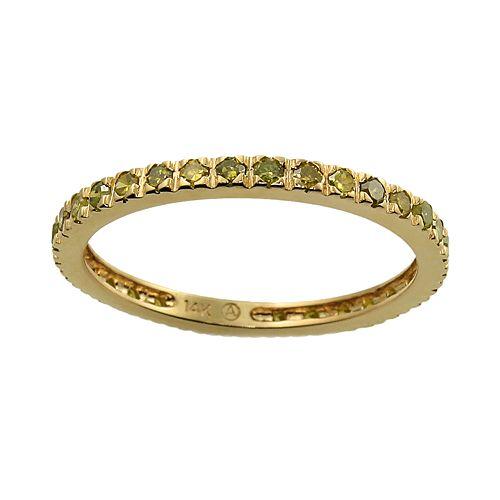 10k Gold 1/2-ct. T.W. Yellow Diamond Eternity Ring