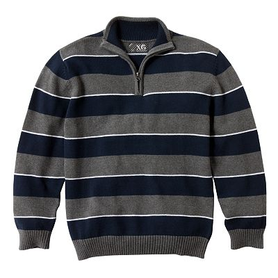 XG Rugby Stripe 1/4-Zip Sweater - Boys 8-20